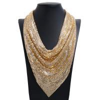 Kragen Halskette, Pailletten, mit Zinklegierung, plattiert, für Frau, keine, frei von Nickel, Blei & Kadmium, 280mm, verkauft per 19.69 ZollInch Strang