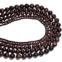 Natürlicher Granat Perlen, verschiedene Größen vorhanden, braun, 400mm, 2SträngeStrang/Menge, verkauft von Menge