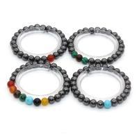 Hämatit Armband, rund, elastisch & unisex, keine, 8mm, verkauft von PC