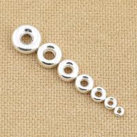 925 Sterling Silber Perlen, 925er Sterling Silber, Kreisring, plattiert, DIY & verschiedene Größen vorhanden & hohl, Bohrung:ca. 1-3mm, verkauft von PC