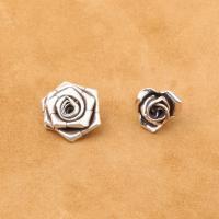 925 Sterling Silber Anhänger, 925er Sterling Silber, Rose, antik silberfarben plattiert, DIY & verschiedene Stile für Wahl, Bohrung:ca. 1mm, verkauft von PC