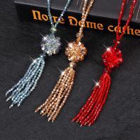 Pullover Kette Halskette, Kristall, Zylinder, plattiert, unisex & mit Strass, mehrere Farben vorhanden, 115x30mm, verkauft per ca. 29.1 ZollInch Strang
