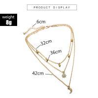 Mode-Multi-Layer-Halskette, Zinklegierung, plattiert, verschiedene Stile für Wahl & für Frau & mit Strass, keine, frei von Nickel, Blei & Kadmium, verkauft von Strang