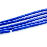 Lapislazuli Perlen, Zylinder, poliert, DIY, tiefblau, 4x13mm, Länge:ca. 15.35 ZollInch, 5SträngeStrang/Menge, verkauft von Menge