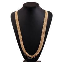 Zinklegierung Pullover Halskette, plattiert, für Frau, keine, frei von Nickel, Blei & Kadmium, verkauft per 35.4 ZollInch Strang