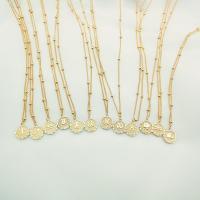Messing Halskette, Kupferlegierung, plattiert, Konstellation Schmuck & verschiedene Stile für Wahl, keine, frei von Nickel, Blei & Kadmium, 1.5cm, verkauft per ca. 18.9 ZollInch Strang