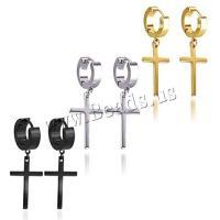 Edelstahl Tropfen Ohrring, plattiert, für Frau, keine, 4x9X25mm, verkauft von Strang