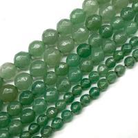 Grüner Aventurin Perle, poliert, DIY & facettierte, grün, verkauft per ca. 15.7 ZollInch Strang