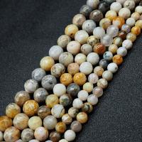 Achat Perlen, Bambus Achat, rund, poliert, DIY, verkauft per ca. 15.7 ZollInch Strang