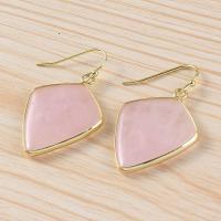Edelstein Tropfen Ohrring, goldfarben plattiert, für Frau, keine, 30x24mm, verkauft von Paar