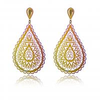 Edelstahl Tropfen Ohrring, für Frau, farbenfroh, verkauft von Paar
