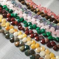 Mischedelstein Perlen, Edelstein, Tropfen, natürliche & DIY & verschiedenen Materialien für die Wahl, keine, 10x12x5mm, 30PCs/Strang, verkauft per ca. 7.9 ZollInch Strang