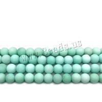 Amazonit Perlen, rund, DIY & verschiedene Größen vorhanden & satiniert, blaugrün, verkauft von Strang