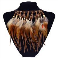 Kragen Halskette, Zinklegierung, mit Feder, plattiert, für Frau, keine, frei von Nickel, Blei & Kadmium, 100x235mm, verkauft von Paar