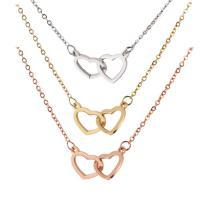 Edelstahl Schmuck Halskette, Herz, plattiert, Spiegeleffekt, keine, 12x20mm, verkauft per ca. 18.8 ZollInch Strang