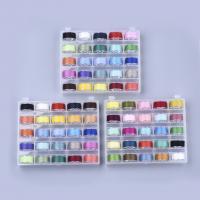 Polyester Näh-Set, Nähgarn, DIY, gemischte Farben, 120x95x25mm, 25Spulen/Box, ca. 50m/Spule, verkauft von Box