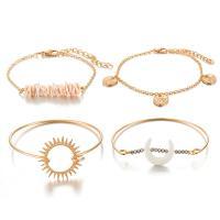 Zinklegierung Armband, goldfarben plattiert, für Frau, frei von Nickel, Blei & Kadmium, 35mm,10mm,25mm,40mm, 4SträngeStrang/setzen, verkauft von setzen