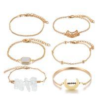 Zinklegierung Armband, goldfarben plattiert, für Frau, frei von Nickel, Blei & Kadmium, 25mm,15mm,40mm, 6SträngeStrang/setzen, verkauft von setzen