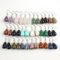Edelstein Ohrringe, Tropfen, silberfarben plattiert, für Frau, keine, 25x13mm, verkauft von Paar