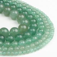 Aventurin Perlen, Grüner Aventurin, rund, poliert, grün, 4x4x4mm, 98PC/Strang, verkauft von Strang
