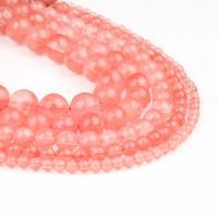 Natürlicher Quarz Perlen Schmuck, Kirsche Quarz, rund, poliert, rot, 4x4x4mm, 98PC/Strang, verkauft von Strang