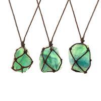Pullover Kette Halskette, grüner Fluorit, unisex, grün, verkauft per ca. 35.4 ZollInch Strang