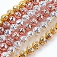 Natürliche Lava Perlen, DIY & verschiedene Größen vorhanden, keine, Bohrung:ca. 1/1.5mm, 5SträngeStrang/Tasche, ca. 0.39m/Strang, verkauft von Tasche