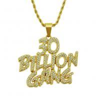 Männer Halskette, Zinklegierung, plattiert, für den Menschen & mit Strass, keine, frei von Nickel, Blei & Kadmium, 3x750mm, verkauft von Strang