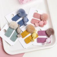 Klick Klack Spange, Plüsch, für Kinder, keine, 60mm, 5PaarePärchen/Menge, verkauft von Menge