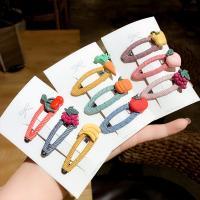 Klick Klack Spange, Acryl, ObstFrucht, für Kinder & verschiedene Stile für Wahl & für Frau, keine, 55mm, 5SetsSatz/Menge, 3PCs/setzen, verkauft von Menge