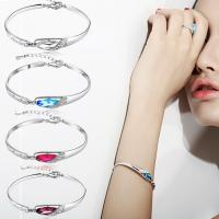 Kristall Armbänder, Zinklegierung, mit Kristall, für Frau, keine, verkauft von PC