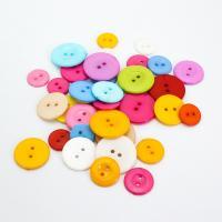 Acryl Zweilochknöpfe, rund, DIY & verschiedene Größen vorhanden, gemischte Farben, 1000PCs/Tasche, verkauft von Tasche
