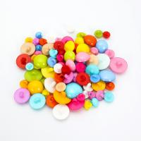 Acryl Ösenknöpfe, Pilz, DIY & verschiedene Größen vorhanden, gemischte Farben, 1000PCs/Tasche, verkauft von Tasche