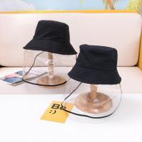 Tröpfchen & staubdichte Gesichtsschild Hut, Baumwolle, unisex & verschiedene Größen vorhanden, schwarz, verkauft von PC