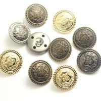 Messing Ösenknöpfe, rund, plattiert, geschnitzed & verschiedene Größen vorhanden, keine, frei von Nickel, Blei & Kadmium, verkauft von PC