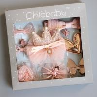Haarspange, Stoff, mit Kunststoff Perlen, handgemacht, für Kinder & verschiedene Stile für Wahl, keine, 165x165x30mm, verkauft von PC