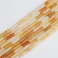Gelber Aventurin Perle, Zylinder, gelb, 14x5mm, 29PCs/Tasche, verkauft von Tasche