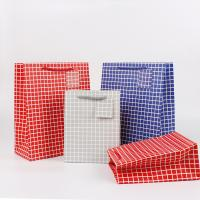 Mode Geschenkbeutel, Papier, Rechteck, Kunstdruck, verschiedene Größen vorhanden, gemischte Farben, 50PCs/Menge, verkauft von Menge