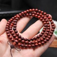 Pterocarpus Santalinus Buddhistische Perlen Armband, rund, verschiedene Größen vorhanden, originale Farbe, verkauft von Strang