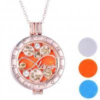 Parfüm Medaillon Halskette, Zinklegierung, Silberfarbe, verkauft von PC