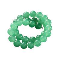 Aventurin Perlen, rund, DIY & verschiedene Größen vorhanden, grün, Bohrung:ca. 1mm, verkauft von Strang
