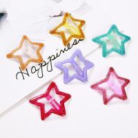 Klick Klack Spange, Acryl, mit Zinklegierung, Stern, Epoxidharzklebstoff, für Frau, keine, 40mm, verkauft von PC