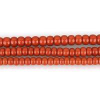 Natürliche Korallen Perlen, Koralle, rund, poliert, DIY & verschiedene Größen vorhanden, rote Orange, Bohrung:ca. 1.5mm, verkauft per ca. 16 ZollInch Strang