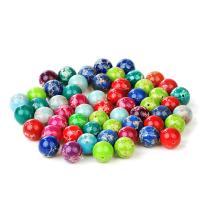 Mischedelstein Perlen, Impression Jaspis, rund, poliert, verschiedene Größen vorhanden, keine, verkauft von Strang