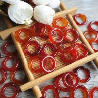 Roter Achat Verbindungsring, Kreisring, poliert, DIY, 16mm, verkauft von PC