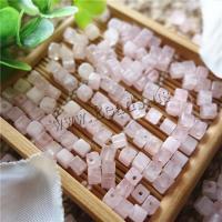 Natürliche Rosenquarz Perlen, Quadrat, poliert, DIY, 4mm, verkauft von PC