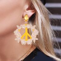 Harz Ohrring, Zinklegierung, mit Harz, für Frau, keine, 92mm, verkauft von Paar