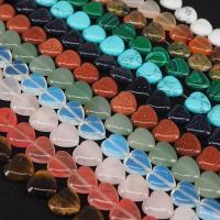 Mischedelstein Perlen, Natürlicher Quarz, Herz, poliert, DIY, keine, 14.50x14mm, 27PC/Strang, verkauft von Strang