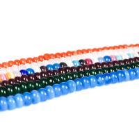 Cats Eye Perlen Schmuck, Katzenauge, flache Runde, poliert, DIY, keine, 8x4mm, ca. 70PCs/Strang, verkauft per ca. 15 ZollInch Strang
