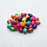 Holzperlen, Holz, Trommel, DIY, gemischte Farben, 15x10mm, verkauft von Tasche